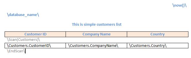 Quick start example | EK RTF
